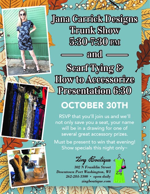 Jana Carrick Designs Trunk Show and Scarf Tying Presentation
